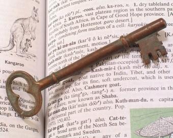 "Brass Victorian Skeleton Key 3-3/8"" Long - Antique Victorian Lock Hardware"