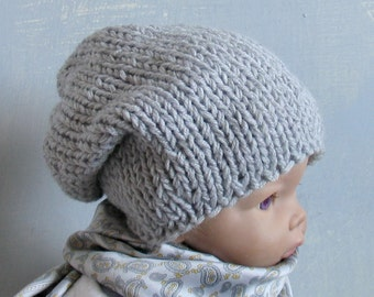 Baby Knit Hat Baby Girl Knit Hat Knit Newborn Hat Baby Winter Hat Baby Goth Hat Baby Kawaii Hat Baby Grunge Hat Grunge Hat Hat Grey baby Hat