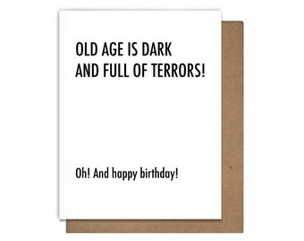 Old Age is Dark Birthday Card Game of Thrones
