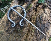 Hand forged Viking or Anglo Saxon Cloak Brooch