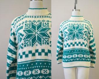 1980s Ricki Hand-knit Sweater