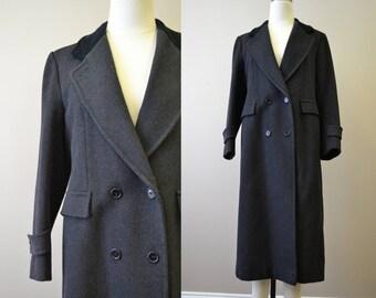 1980s Karen Black Wool Long Coat