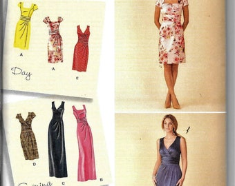 Simplicity 1420 Sewing Pattern Misses Plus Dress & Bodice Variations Sleeveless Day Or Evening UNCUT Size 6, 8, 10, 12, 14
