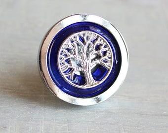 royal blue kitchen decor, decorative drawer pull, cabinet knob, tree of life, cabinet pull, drawer handle, dresser knob, cabinet hardware