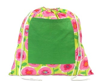 Lollipoppies monogrammed laundry bag - get it to the washer in style