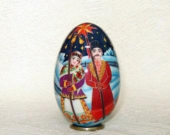 Ukrainian Christmas Goose egg Pysanka