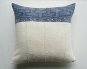 Vintage Chinese Batik Pillow Cover - Indigo Boho Pillow Covers - Modern Bohemian Decor