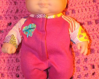 Lil Cutesie and Lots 2 Love doll clothes - Your choice knit sleeper and blanket
