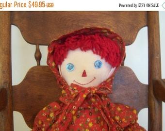 Vintage Handmade Fabric Doll Celebrating 5 Years On Etsy