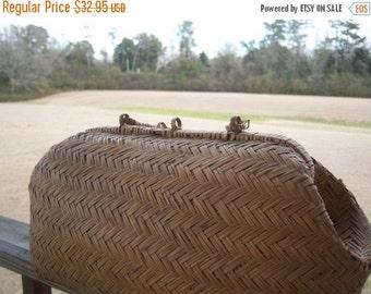 Vintage Cane Basket Purse Home Decor Antique Shreveport Louisiana