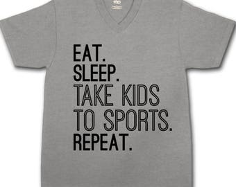 Eat Sleep Take Kids to Sports Tee Graphic, Digital Download, Eat Sleep Repeat SVG, Take Kids to Sports SVG, Cricut Design