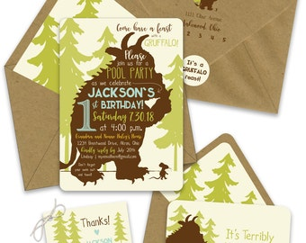 Gruffalo Birthday Invitations