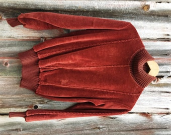 Vintage Velour Long Sleeve Turtle Neck Tee