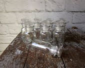 Vintage Wagner Spice Jars Set of 8 Glass Jars with Glass Corks