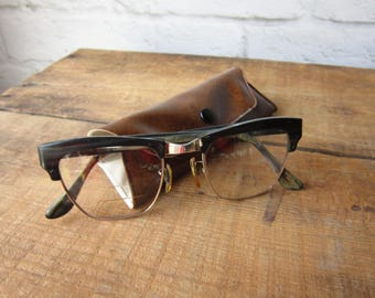 Bausch and Lomb Glasses 50's 60's Eyebrow Glasses Mad Men Optics
