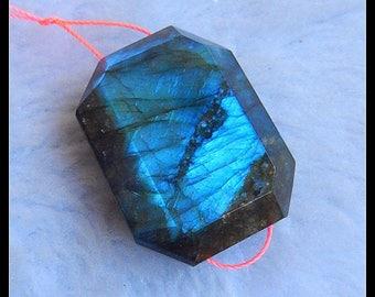 Labradorite Gemstone  Faceted Pendant Bead,34x26x12mm,22.0g(c0500)