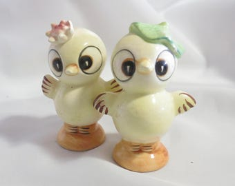 Vintage Anthropomorphic Chicks Salt and Pepper Shakers for Easter