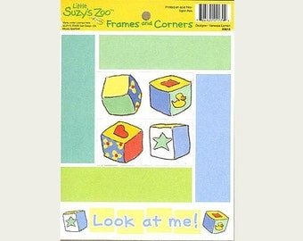 Suzy's Zoo Scrapbook Card Stock Frames and Corners LOOK AT ME !
