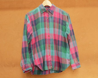 twin peaks 90s nirvana pastel GRUNGE plaid FLANNEL oversized shirt