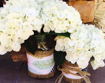 Mason Jar Wraps, READY to SHIP, Feather, Arrow, Boho Chic, Tribal, Wedding, Shower, Party, Centerpiece, Decoration