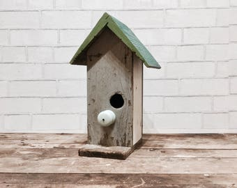 Rustic Birdhouse | Reclaimed Wood | Cottage Style | Outdoor Living | Fairy Garden