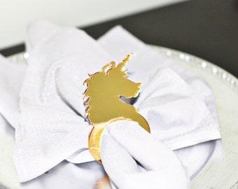Acrylic Napkin Ring Unicorn Head Birthday Party/Baby Shower Acrylic napkin ring/napkin holder, Enchanted, Forest, Rainbow