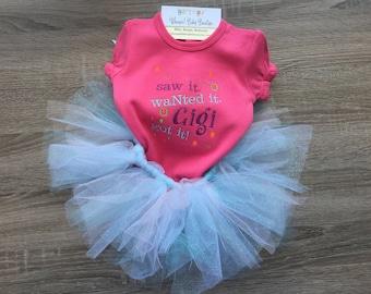 Gigi, baby girl bodysuit, baby outfit, onesie, cute onesie, nana, grandma