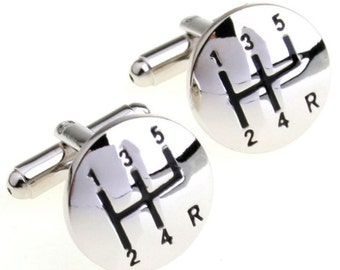 Car Shift Cuff Links