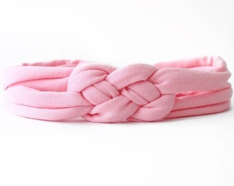 Pink Valentine Outfit - Coming Home Headband - Pink Baby Headwrap - Jersey Baby Headband - Pink Baby Headband - Newborn Headwrap