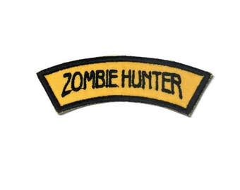 Zombie hunter iron on patch