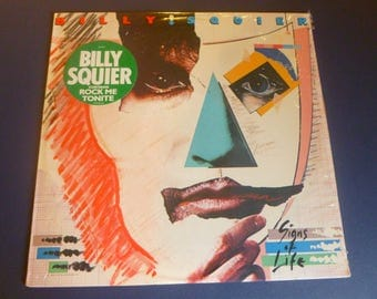 On Sale! Billy Squier Signs Of Life Vinyl Record LP SJ-12361 Capital Records 1984