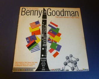 Benny Goodman Recorded At The Brussels World Fair 1958 Vinyl Record LP Westinghouse Records
