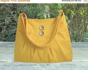 Halloween Sale 10% off Golden cross body bag / messenger bag / shoulder bag / diaper bag  - cotton canvas