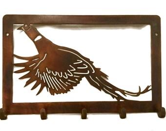 Pheasant Coat Rack | Hunting Decor | Wall Decor | Home Decor |  Hunter Gift | Metal Wall Decor | Hunting Decoration | Pheasant Hunter