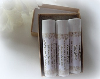 3 Natural Lip Scrubs Gift Set, Natural Lip Scrubs, Lip Exfoliation