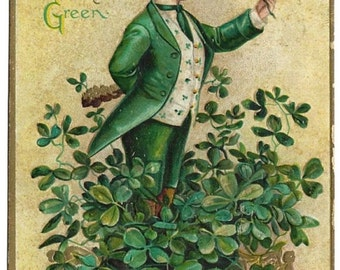 20% OFF Ellen Clapsaddle St. Patrick's Day Wearing of the Green Postcard, Antique 1911 Holiday Artist Signed Ephemera, FREE SHIPPING