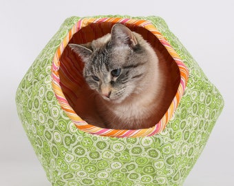Green Cat Bed designed for kittens and small cats - the mini size Cat Ball