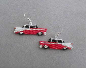 Beaded Classic Car Earrings