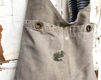 HOLIDAY BLOWOUT PATCH - reconstructed vintage duffle sling bag