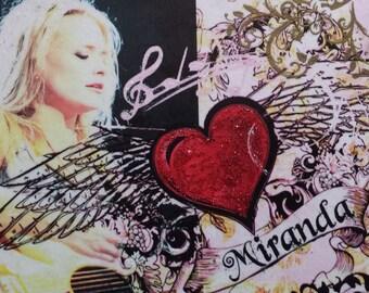 Miranda Lambert Decoupage Sign Plaque Country Music Singer Sign Wall Hanging