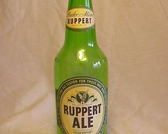 1949 Ruppert Ale Jacob Ruppert New York, N.Y. Make Mine Ruppert,12 Ounce IRTP Paper Labeled Beer Ale Bottle