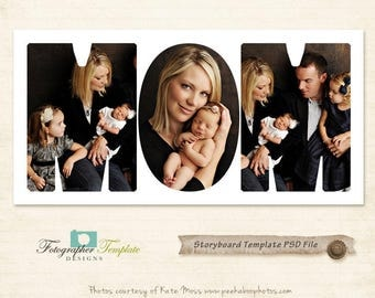 Mother's Day 10x20 Storyboard Template Collage Photography Storyboard Photoshop Templates for Photographers - S104