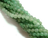 ON SALE Green Aventurine (natural) Stone Bead, 6mm round, you pick 8 beads, 16 beads, half strand, or full 16 inch strand