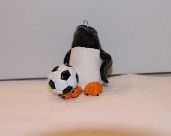 Volleyball Penguin Figurine