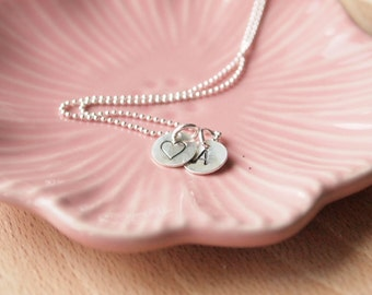 Extra letter or charm for  Initial Silver personalised necklace - no chain - Custom Stamped Charm - Monogram Necklace Charms Sterling Silver