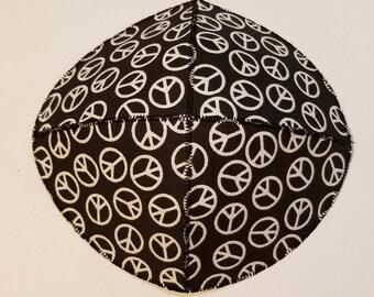 Peace Saucer Kippah Yarmulke