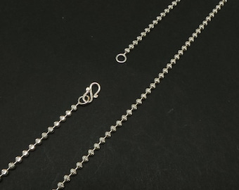 Handmade Supply Ball Necklace Chain -  925 Sterling Silver Chain Craft Supplies - 16''. 18'', 20'', 22'', 24''