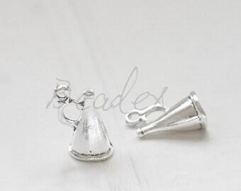 20 Pieces / Loudspeaker / Oxidized Silver / Base Metal / Charm (X4984//H414)
