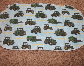 Tractor Burp Cloth with Minky