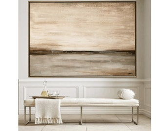 """Painting 65"""" creme grey    Abstract painting wunderful wall art  from  Jolina Anthony a beautifull art wall art decor"""